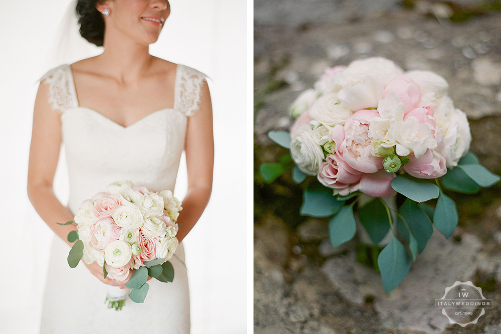 Villa wedding Umbria bridal bouquet