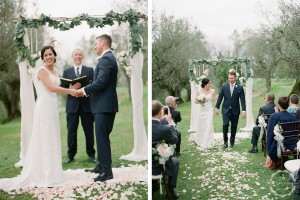 Villa wedding Umbria arch eucalyptus