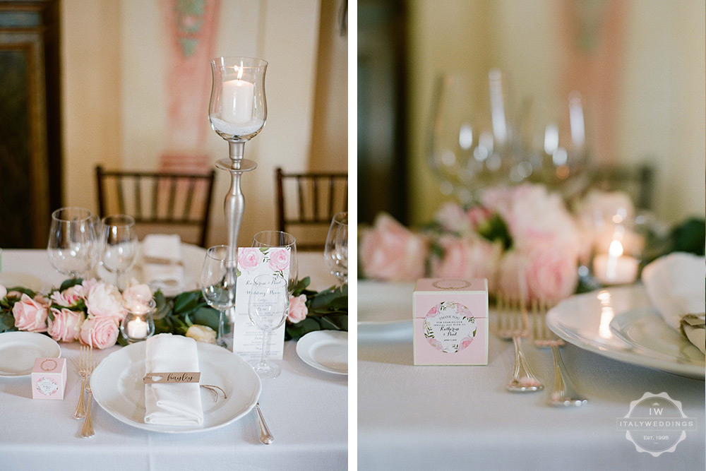 Villa wedding Umbria tablescape