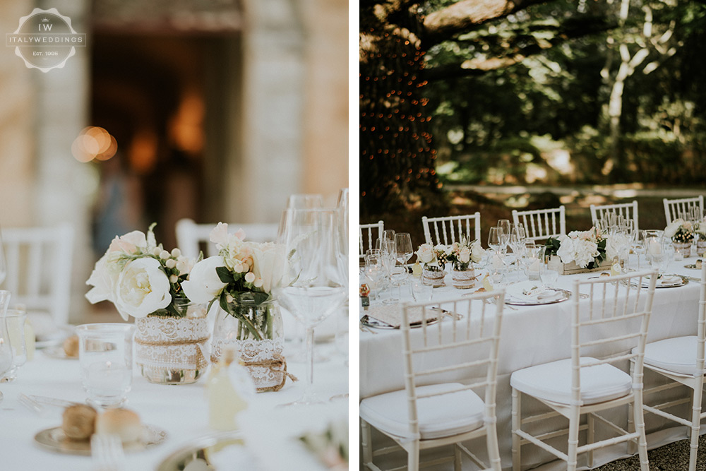 Villa wedding Tuscany long table