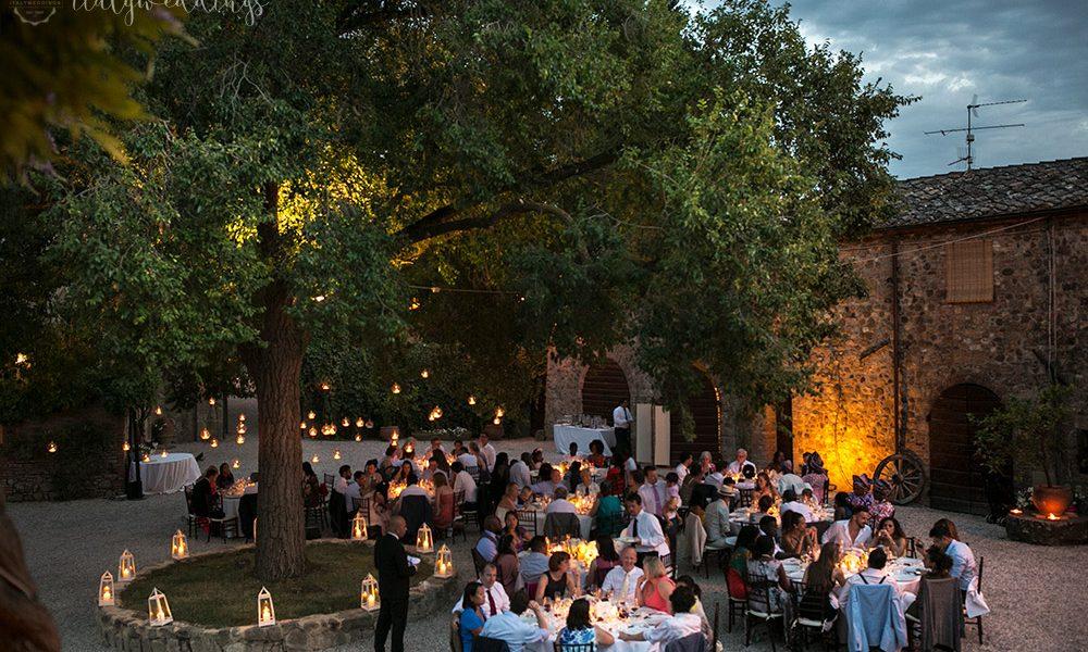 Borgo Castelvecchio reception lighting