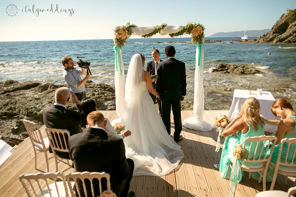 Italian coastal wedding