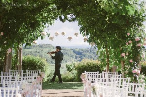 Tuscan wedding ceremony blessing