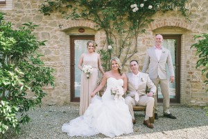 Tuscan wedding party
