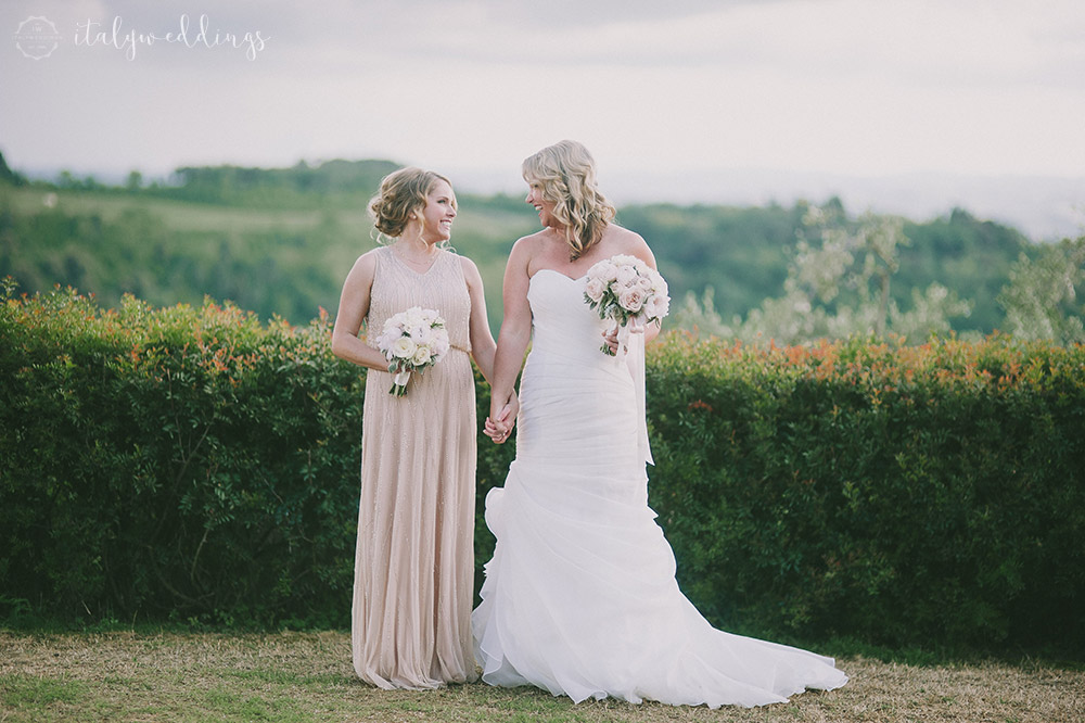 Tuscan wedding bridesmaid