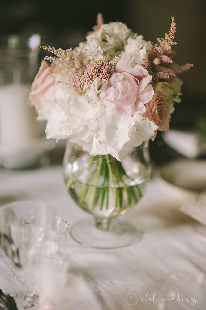 Tuscan wedding vase composition