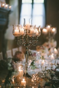 Tuscan wedding table lighting
