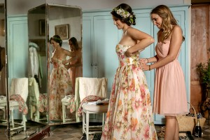 Siena wedding preparations