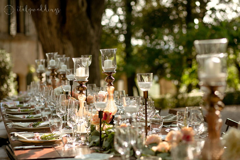 Siena Stomennano wedding long country table