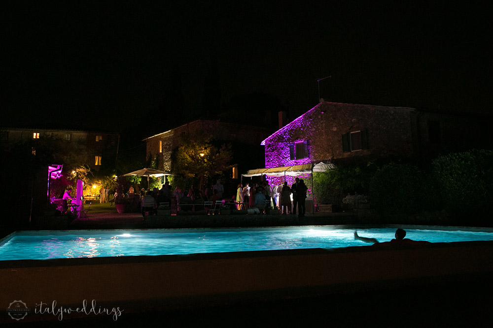 Siena Stomennano wedding pool lighting