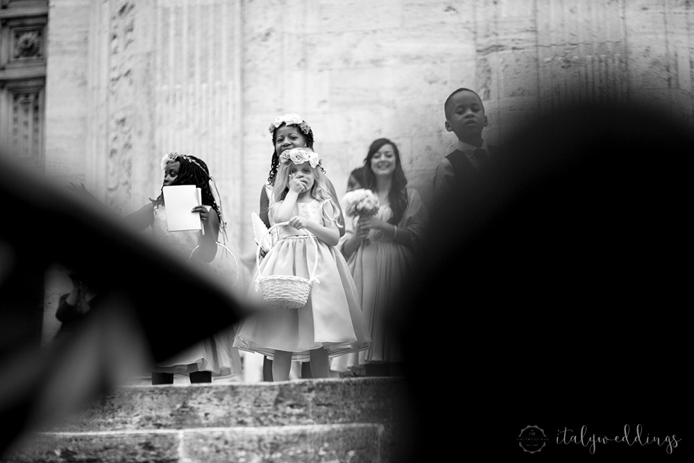 Tuscany wedding page boys flower girls