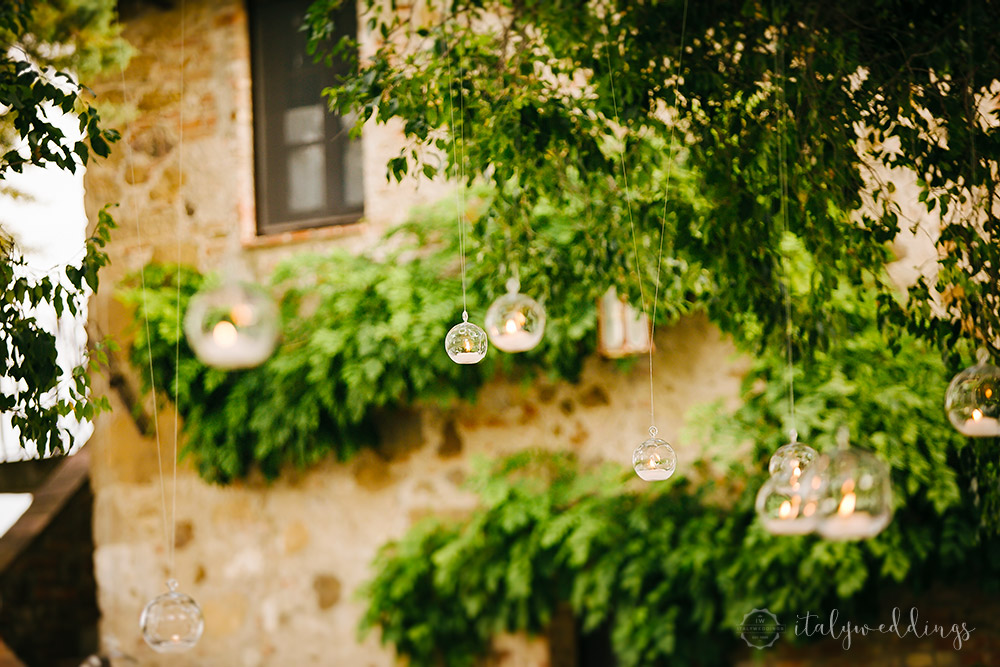 Tuscany wedding hanging candle bowls