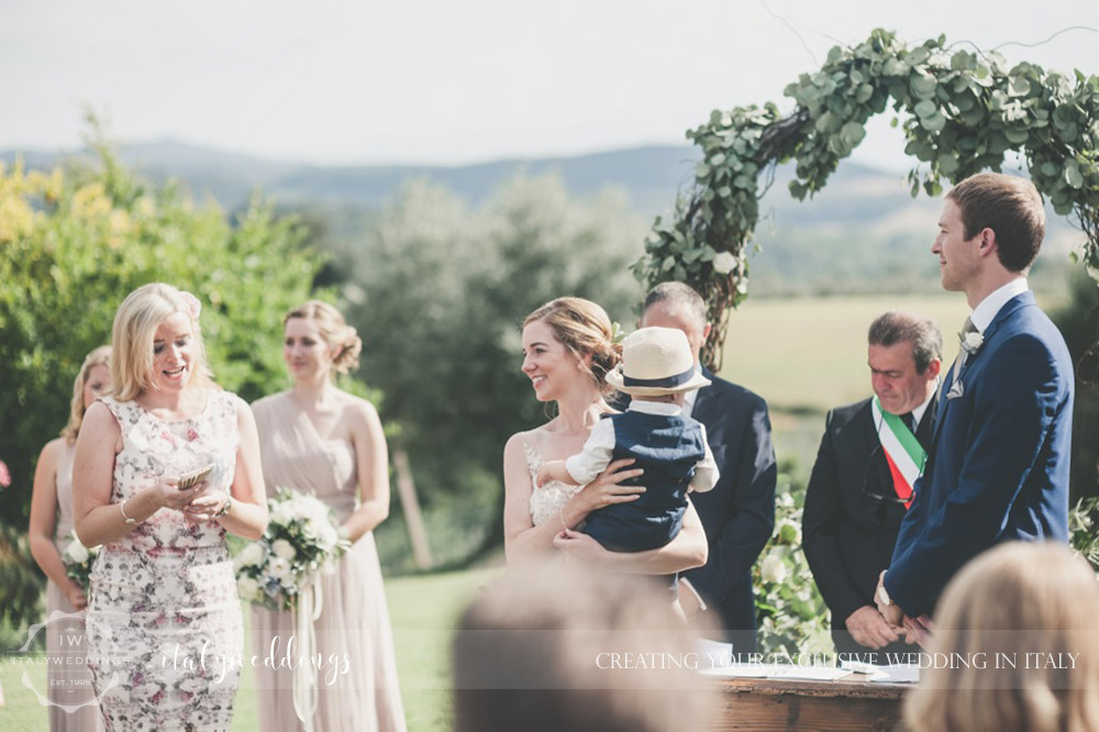 Country civil wedding Siena