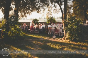 Country civil wedding Siena al fresco