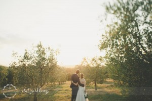 Country civil wedding Siena olives