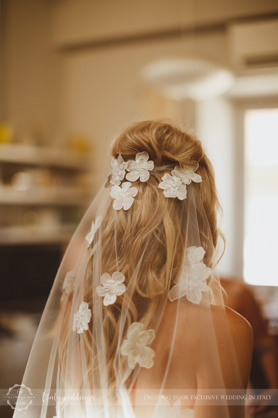 Florence wedding bridal hair veil