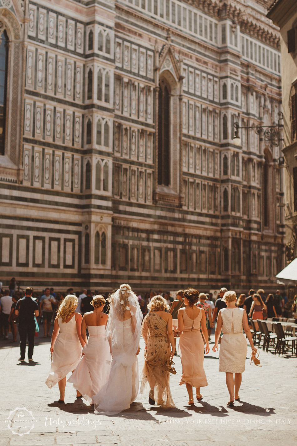 Florence cathedral bridal party