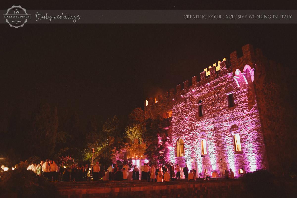 Castello di Vincigliata illumination