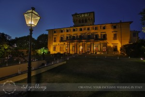 Fiesole Maiano wedding villa illumination
