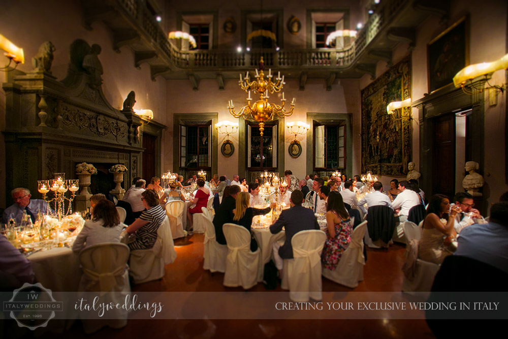 Fiesole Maiano wedding dining hall