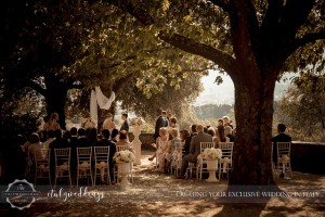 Fiesole Maiano wedding blessing garden