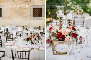 Wedding at Villa Ulignano gold reception