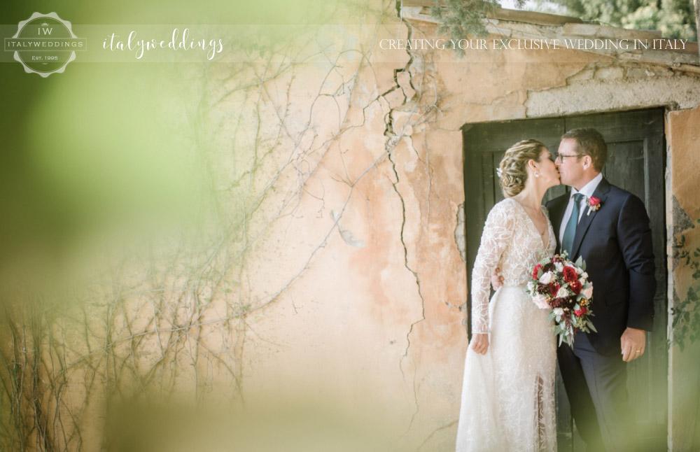 Wedding at Villa Ulignano natural bouquet