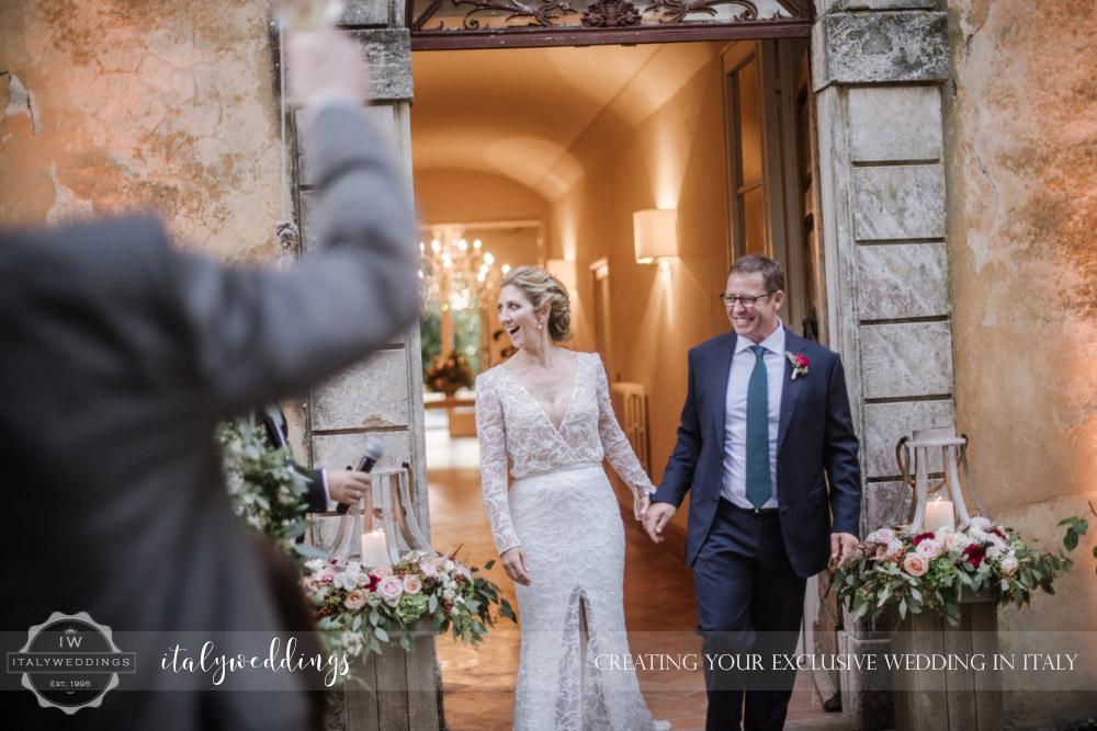 Wedding at Villa Ulignano reception