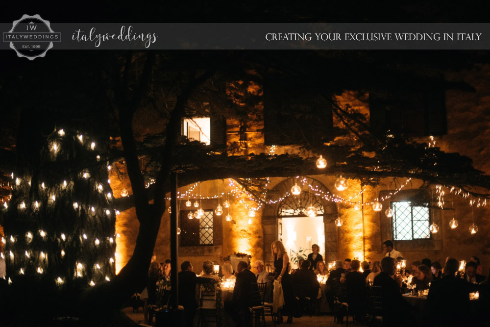 Wedding at Villa Ulignano lighting