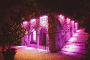 Castello di Vincigliata wedding lighting