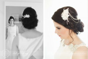 Tuscan coastal wedding, bridal details