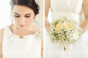 Tuscan coastal wedding, bridal details