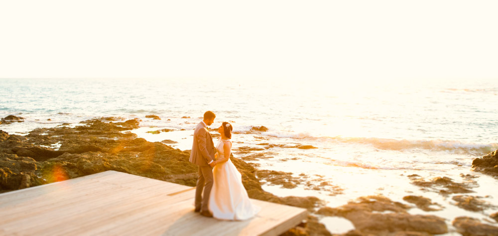 Tuscan coastal wedding