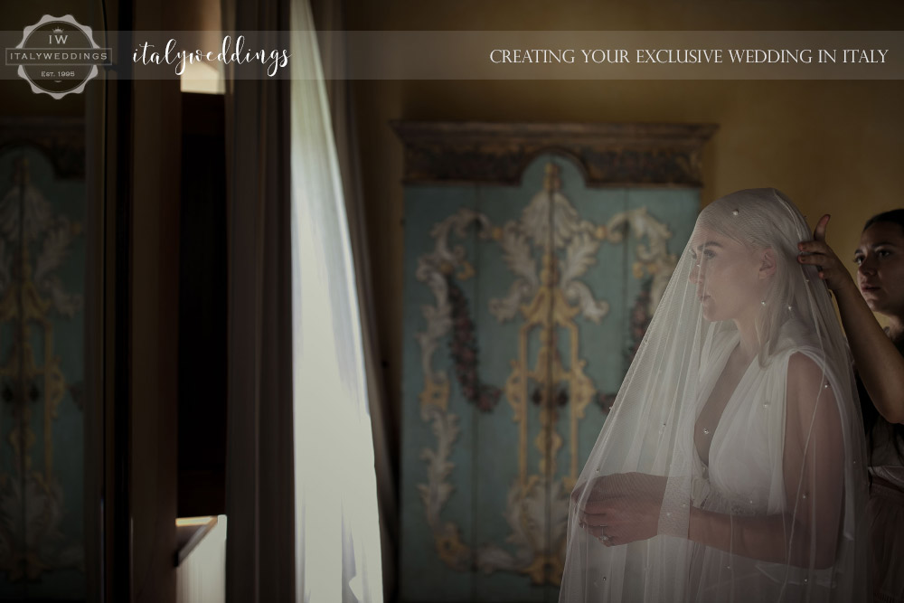 Italy wedding bridal preparation