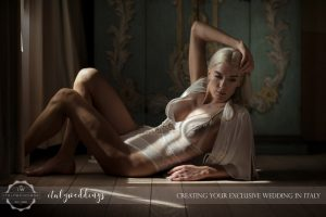 Italy wedding boudoire shoot