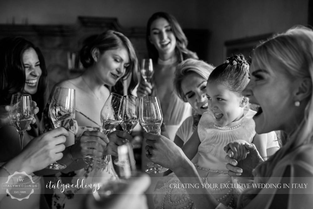 Italy wedding wedding party