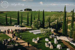 Italy wedding garden preparation