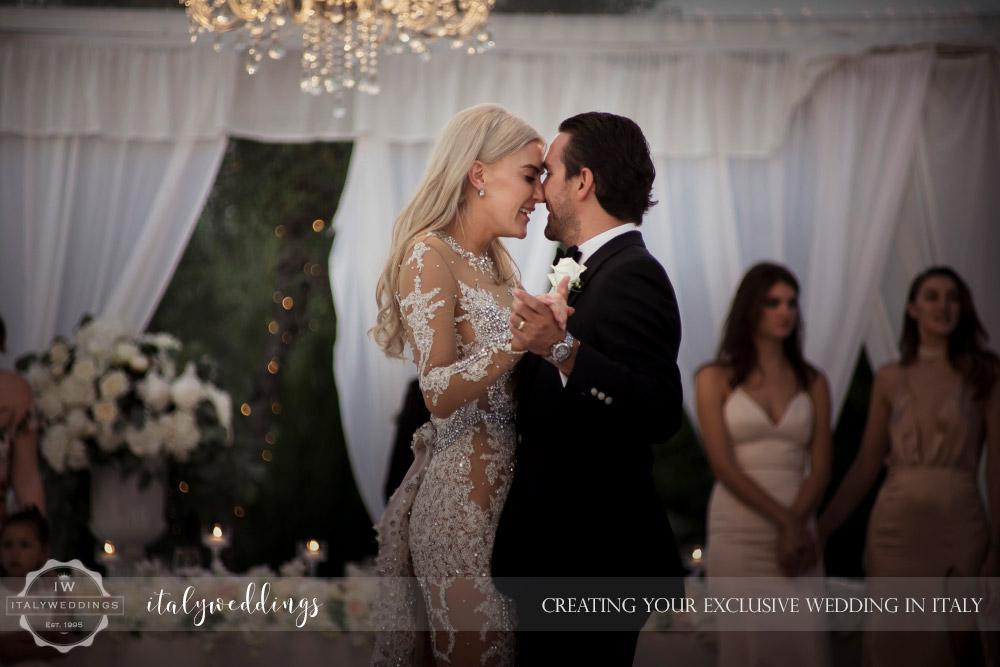 Italy wedding first dance