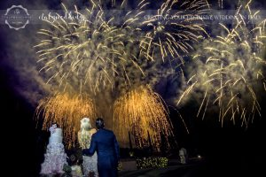 Italy wedding fireworks