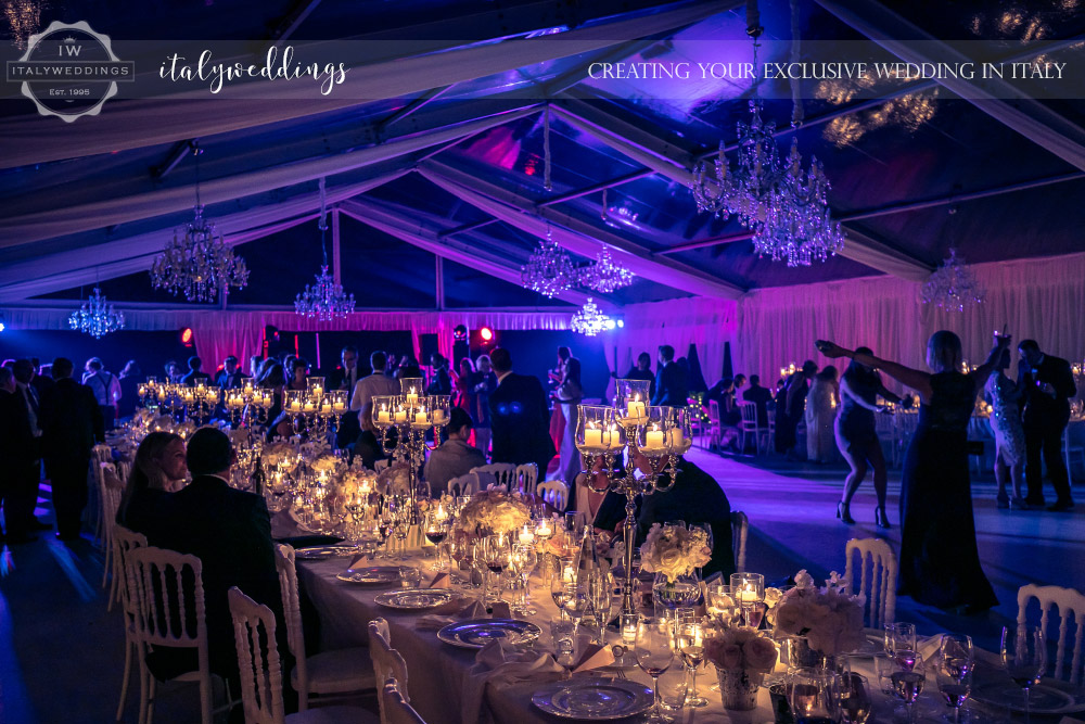 Italy wedding crystal marquee