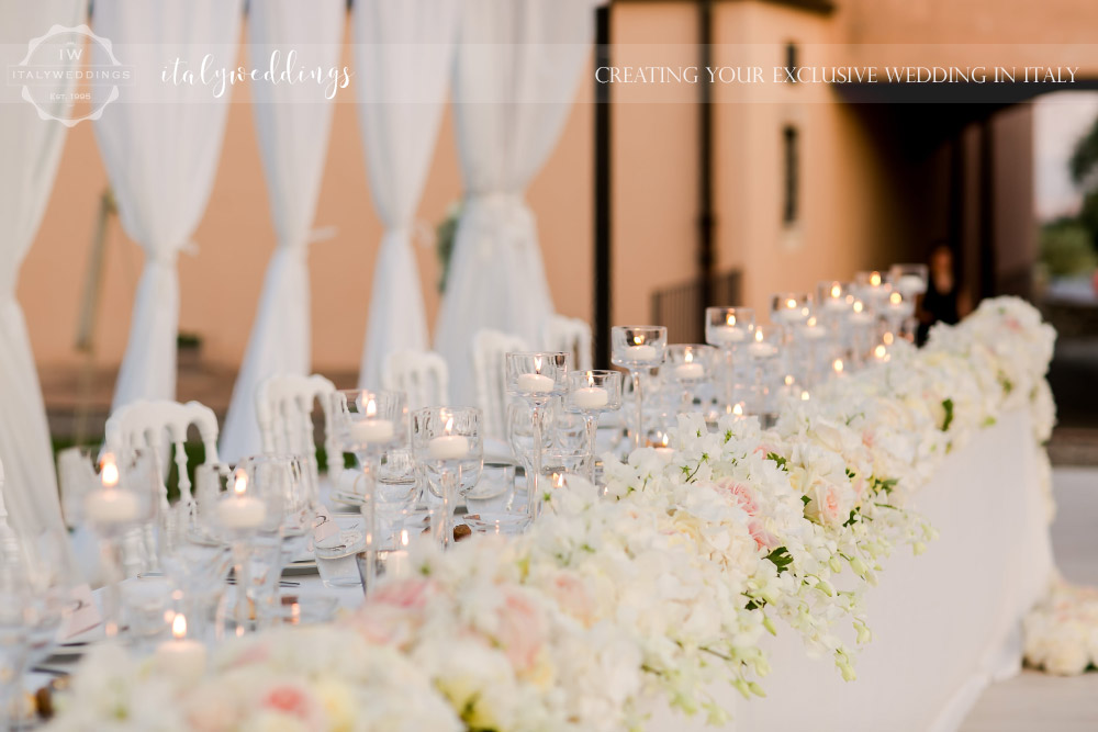 Italy wedding top table
