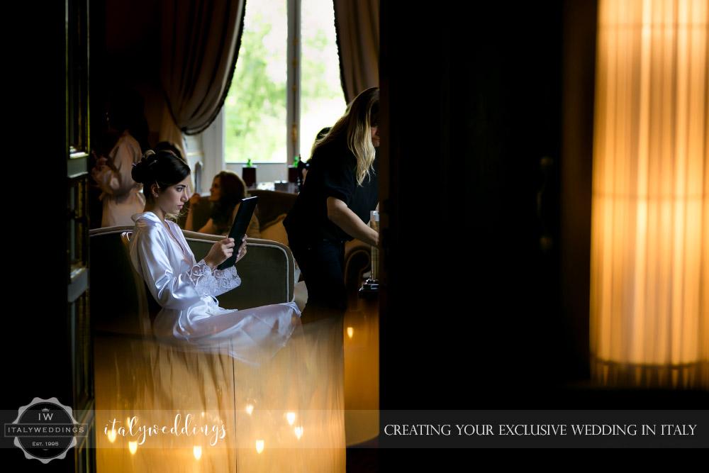 Vincigliata wedding Villa Cora preparation