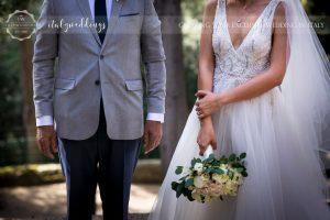 Vincigliata wedding arrival