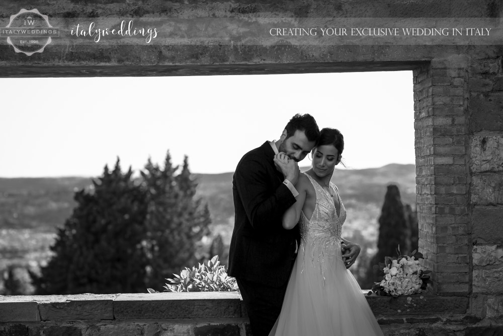 Vincigliata wedding couple portraits