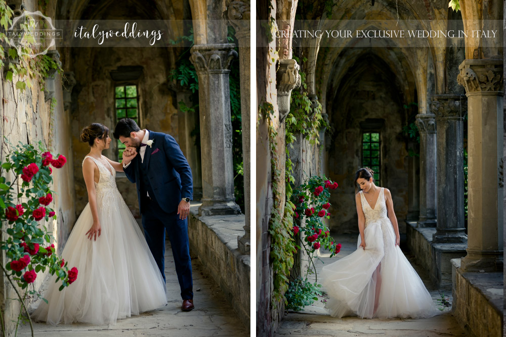 Vincigliata wedding cloisters