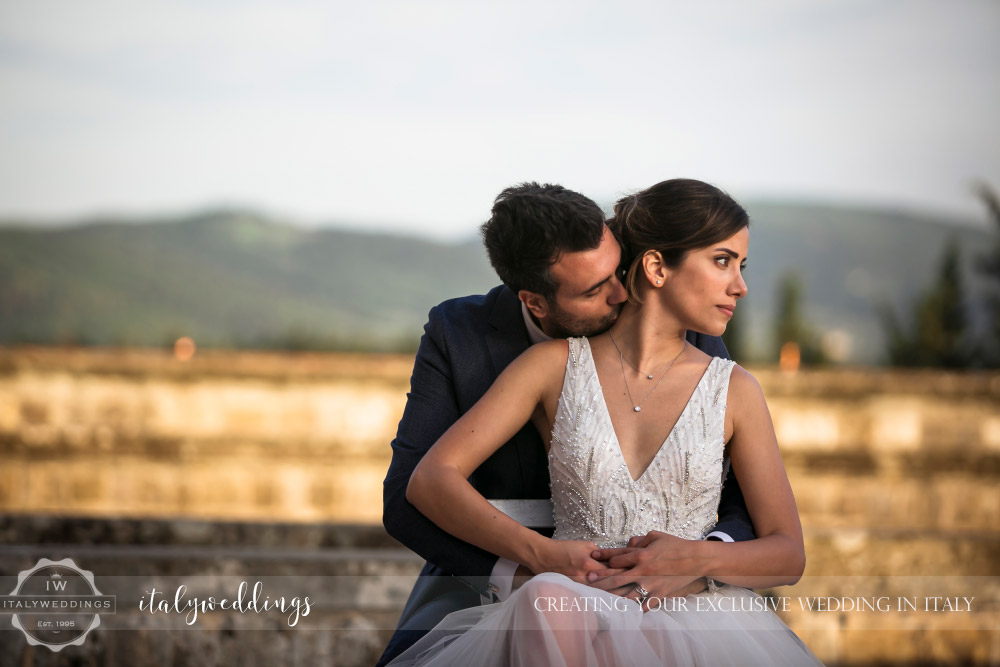 Vincigliata wedding couple portaits