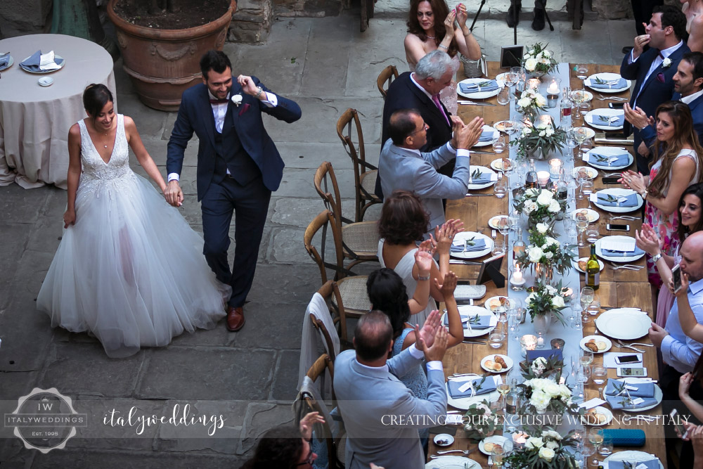 Vincigliata wedding meal table