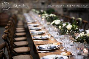 Vincigliata wedding country chic table