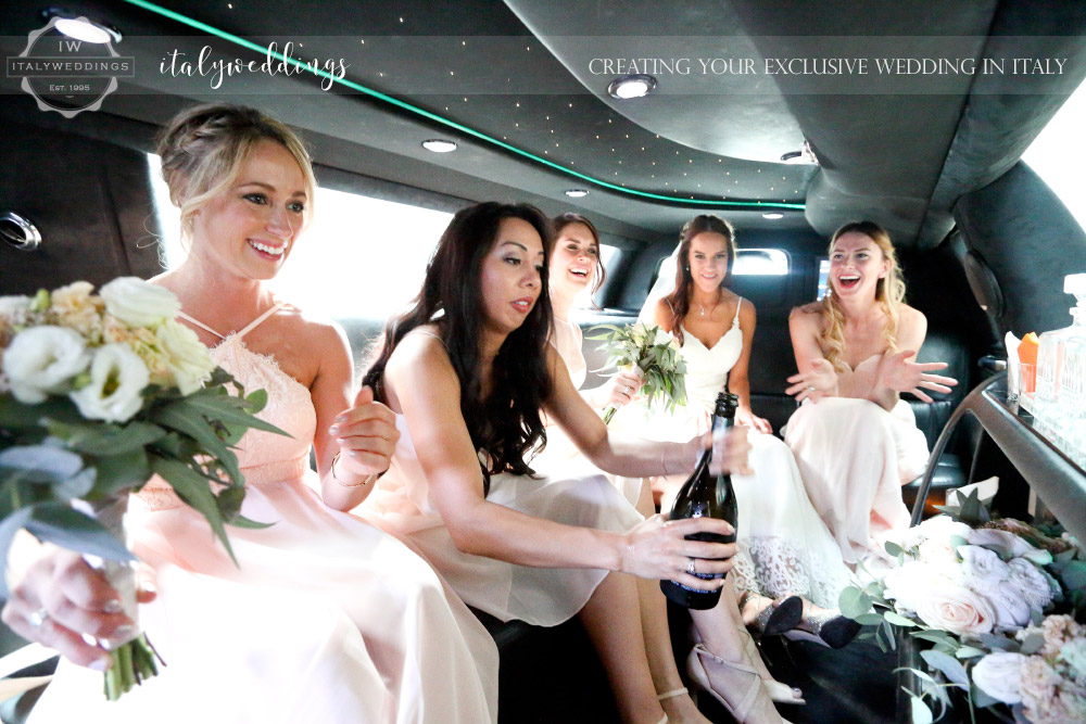 Castello di Vincigliata wedding limo