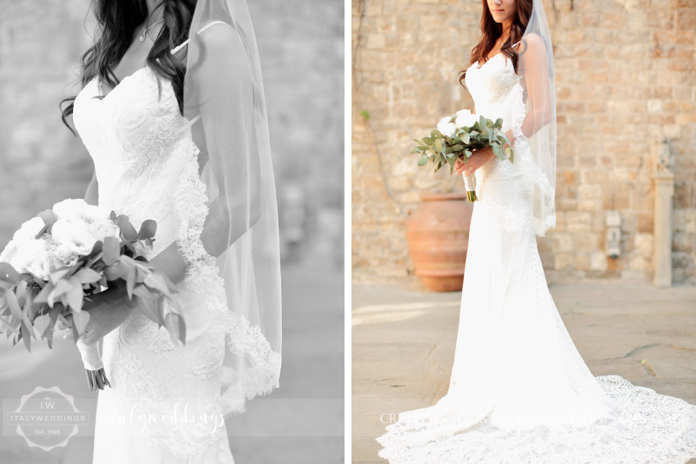 Castello di Vincigliata wedding dress